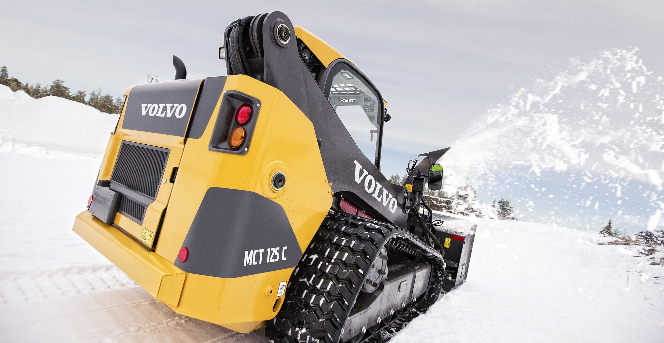 Volvo Show Attachment Skid Steer Loader Snow Blowers X New