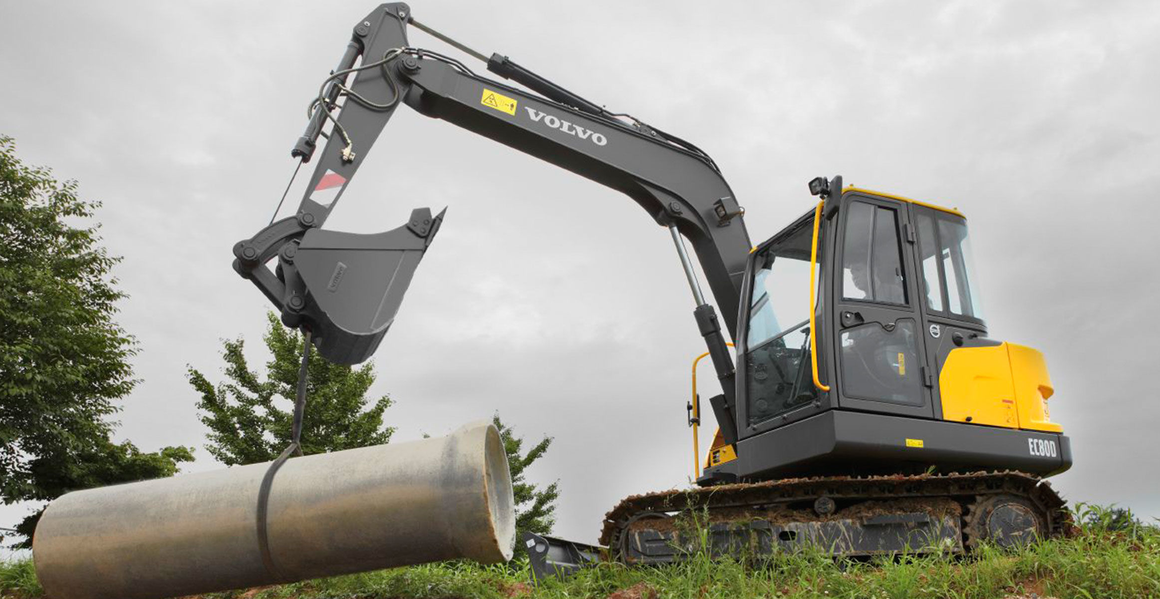 Volvo Ec80d The Biggest Excavator In Its Class Volvo Construction Equipment