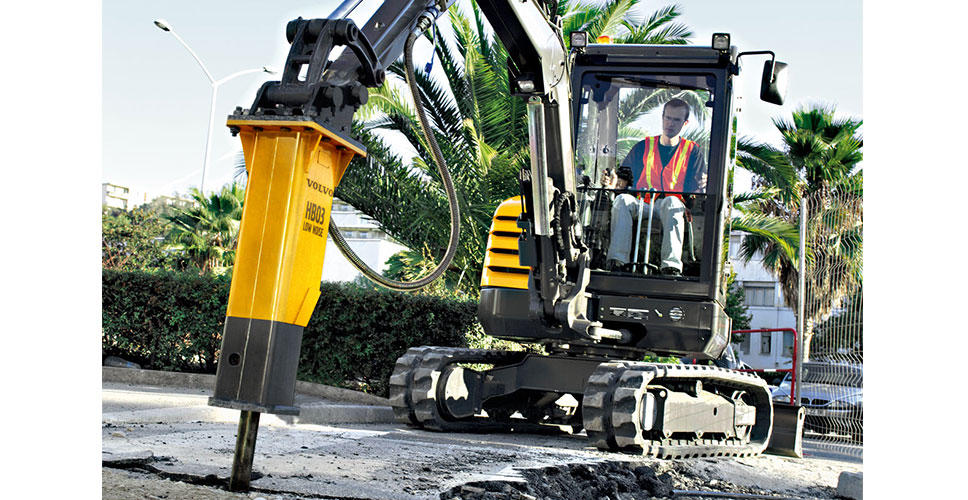 Volvo introduces hydraulic breakers for utility machines