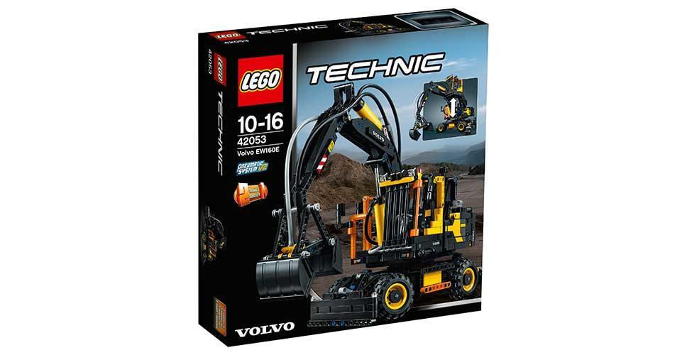 LEGO® Technic builds air-powered mini wheeled excavator