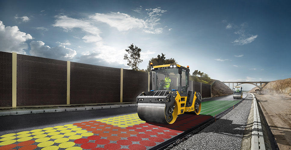 Volvo offers Compact Assist with real-time asphalt density calculation