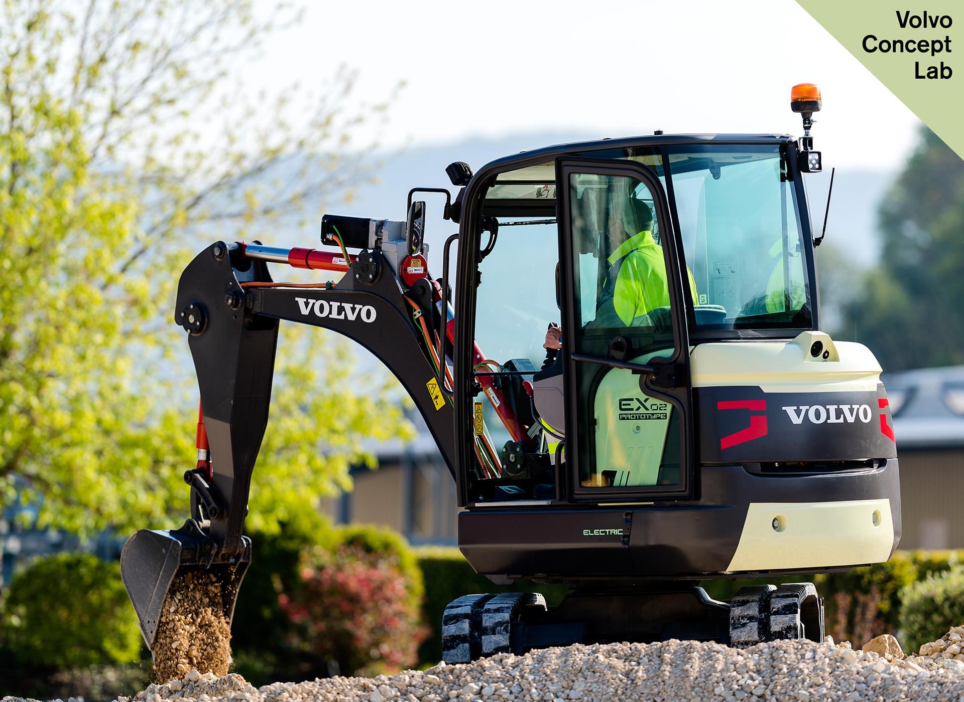 Volvo EX2 Electric Compact Excavator