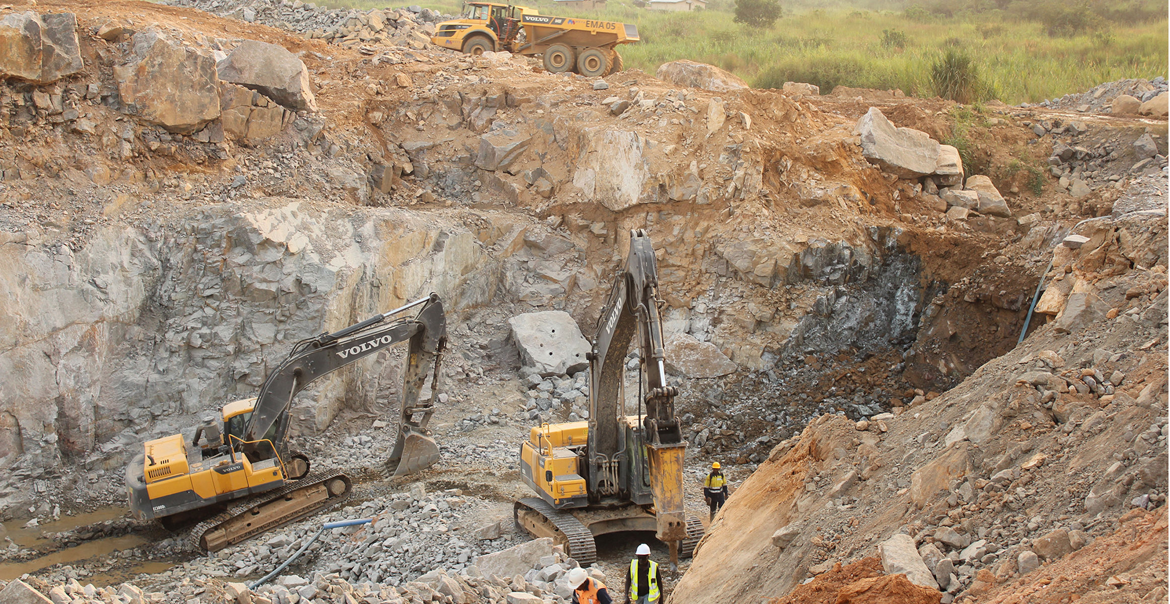 The changing face of Sierra Leones diamond mines : Volvo Construction Equipment