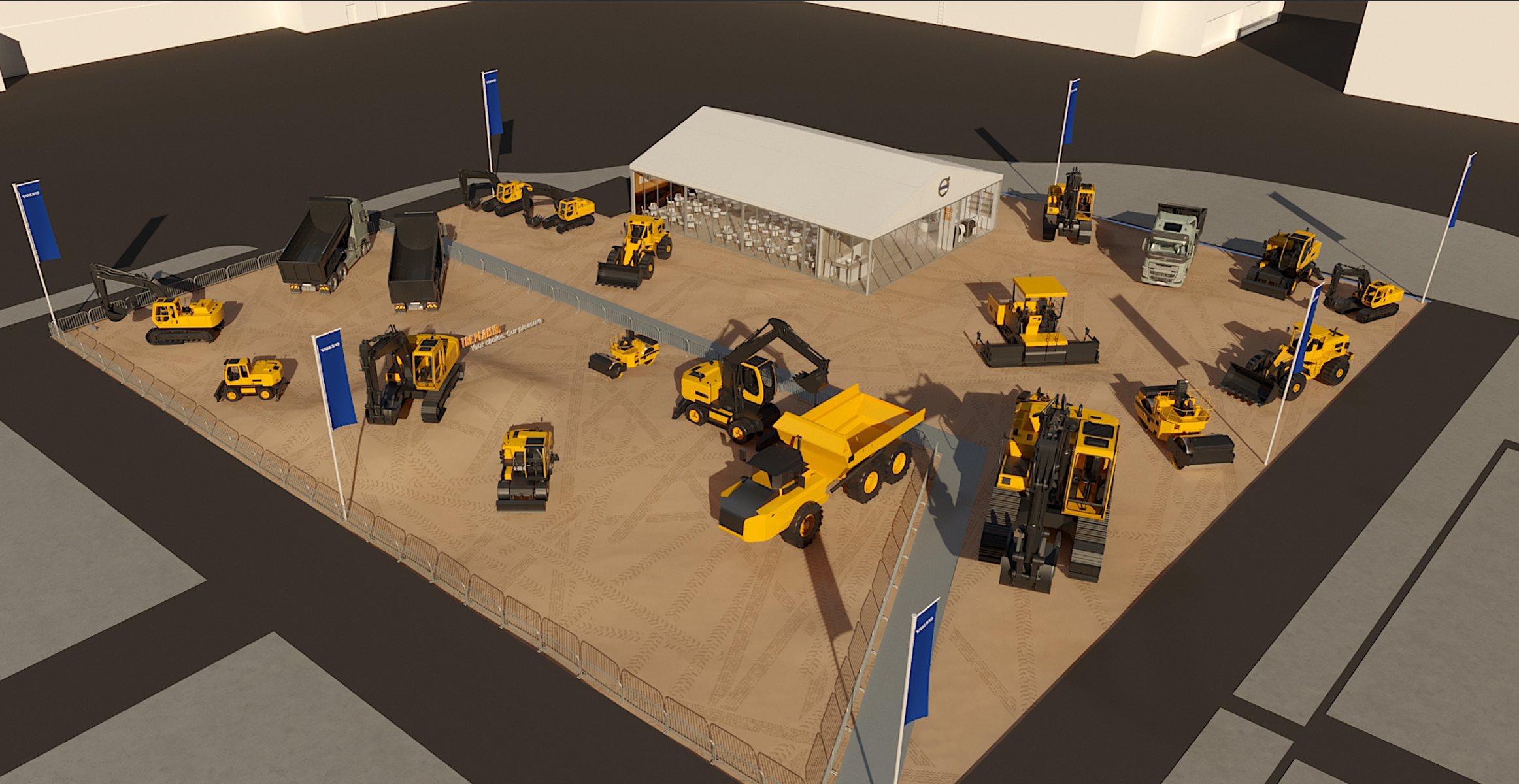 Volvo Exhibition Stand : Volvo builds tomorrow at intermat paris volvo construction