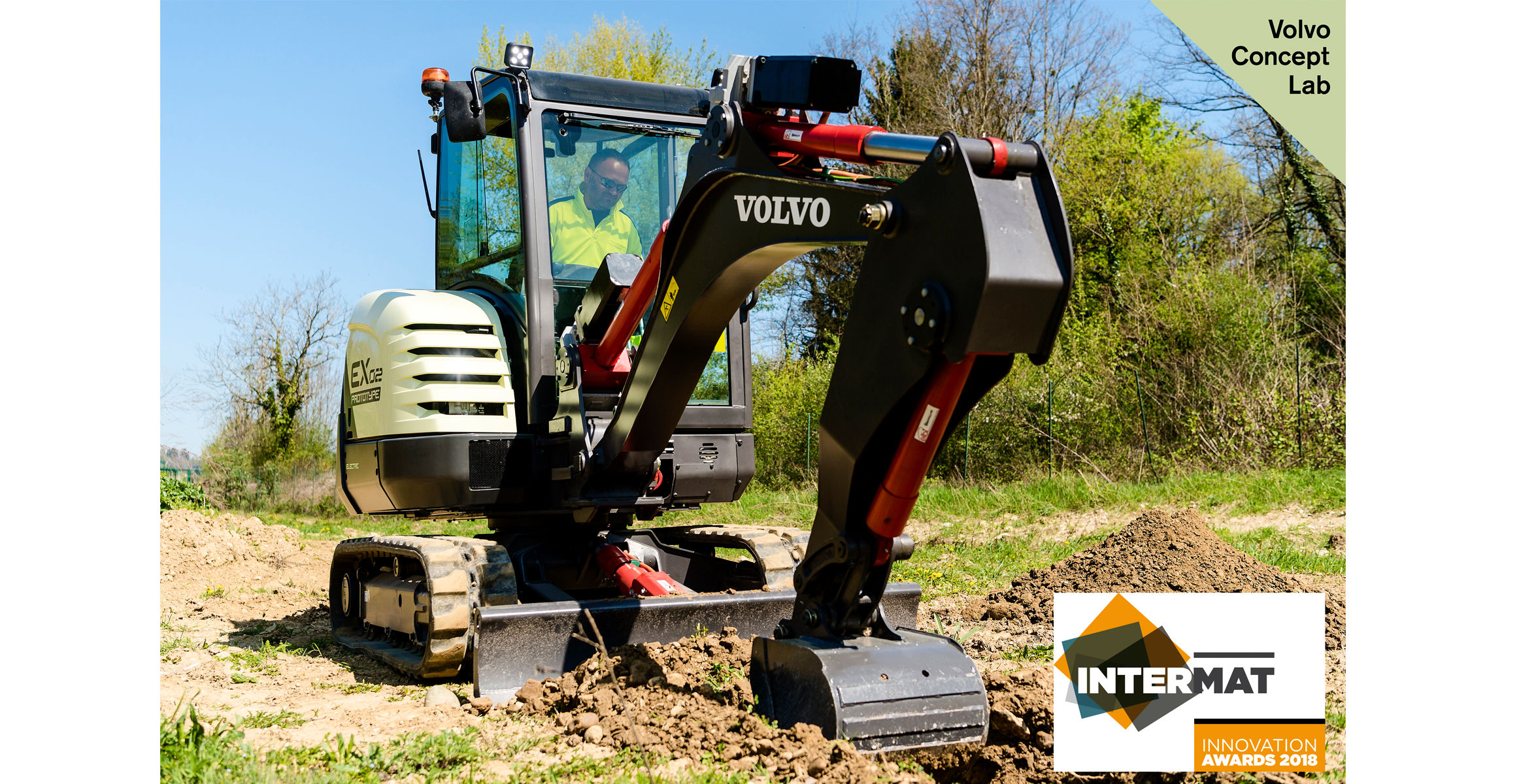 Volvo CE's fully-electric compact excavator prototype wins Intermat Innovation Award