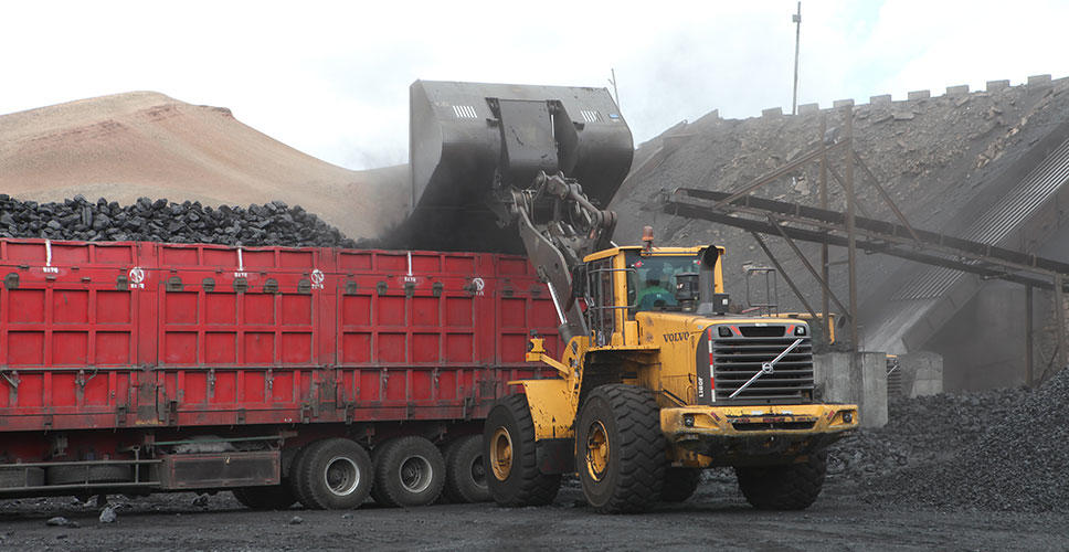 Loading the coal ready for transportation