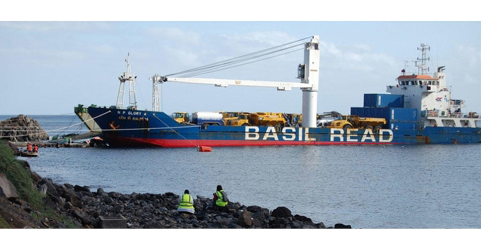 Basil Read's ship transports Volvo CE machinery to the island