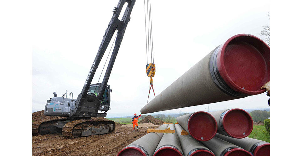 On instructions from the Stuttgart Waterworks Department, 435 water pipes were laid along a section of 3.4km.