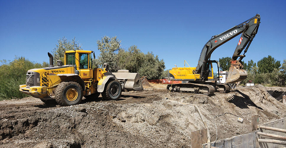 Using Volvo articulated haulers and excavators provided cost and time savings.