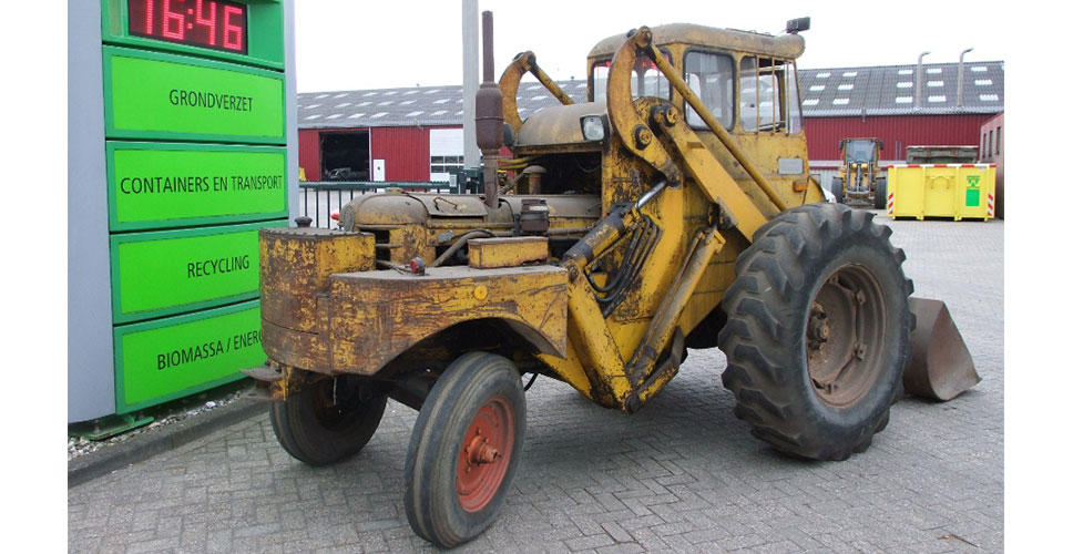 Volvo Construction Equipment's first loader, the H10, before renovation. The machine was supplied by Kuiken, Volvo's dealer in the Netherlands.