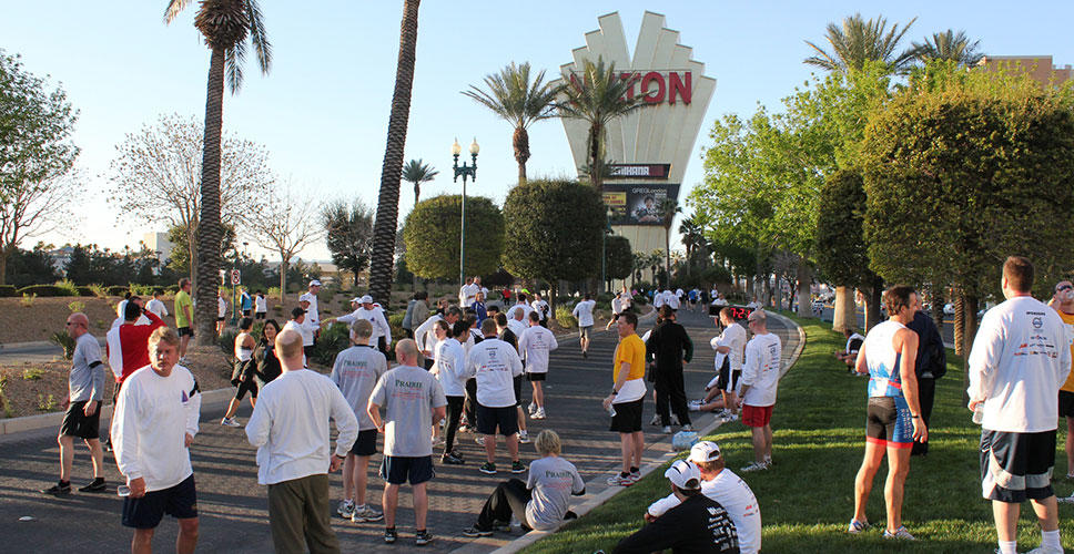 There was a great turnout for the race, which takes place every ConExpo in Las Vegas.