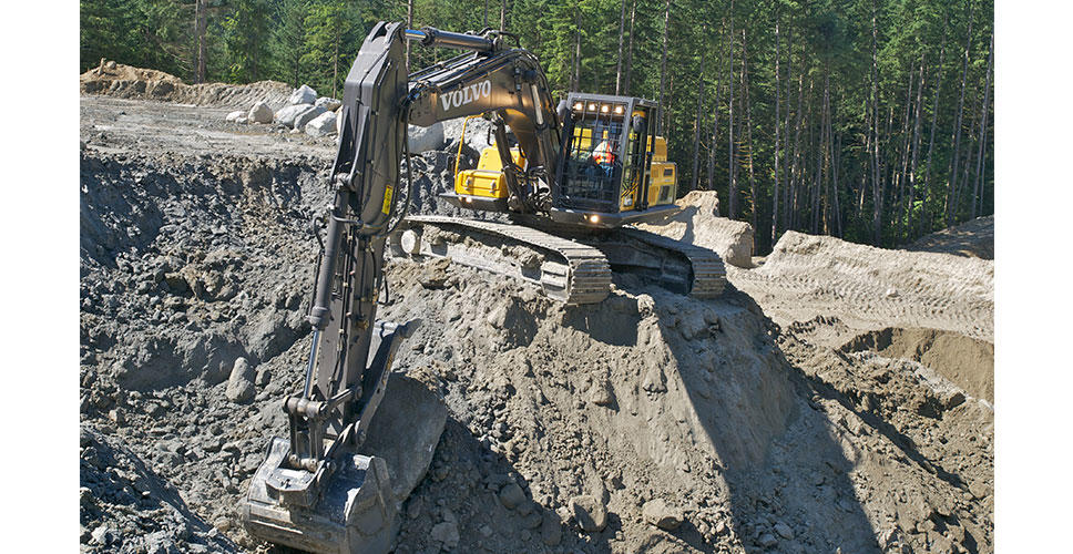 Volvo excavates some of the best aggregate material on the market