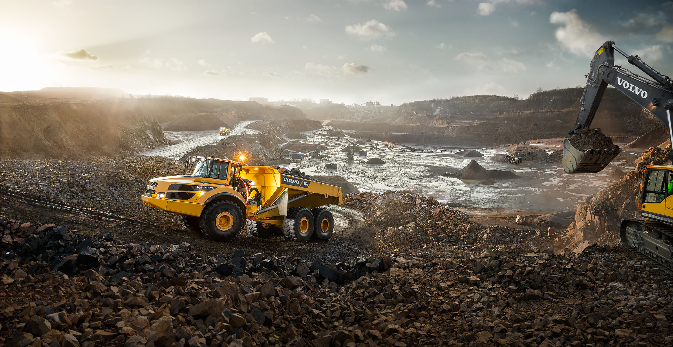 Volvo G-Series haulers: continuous production