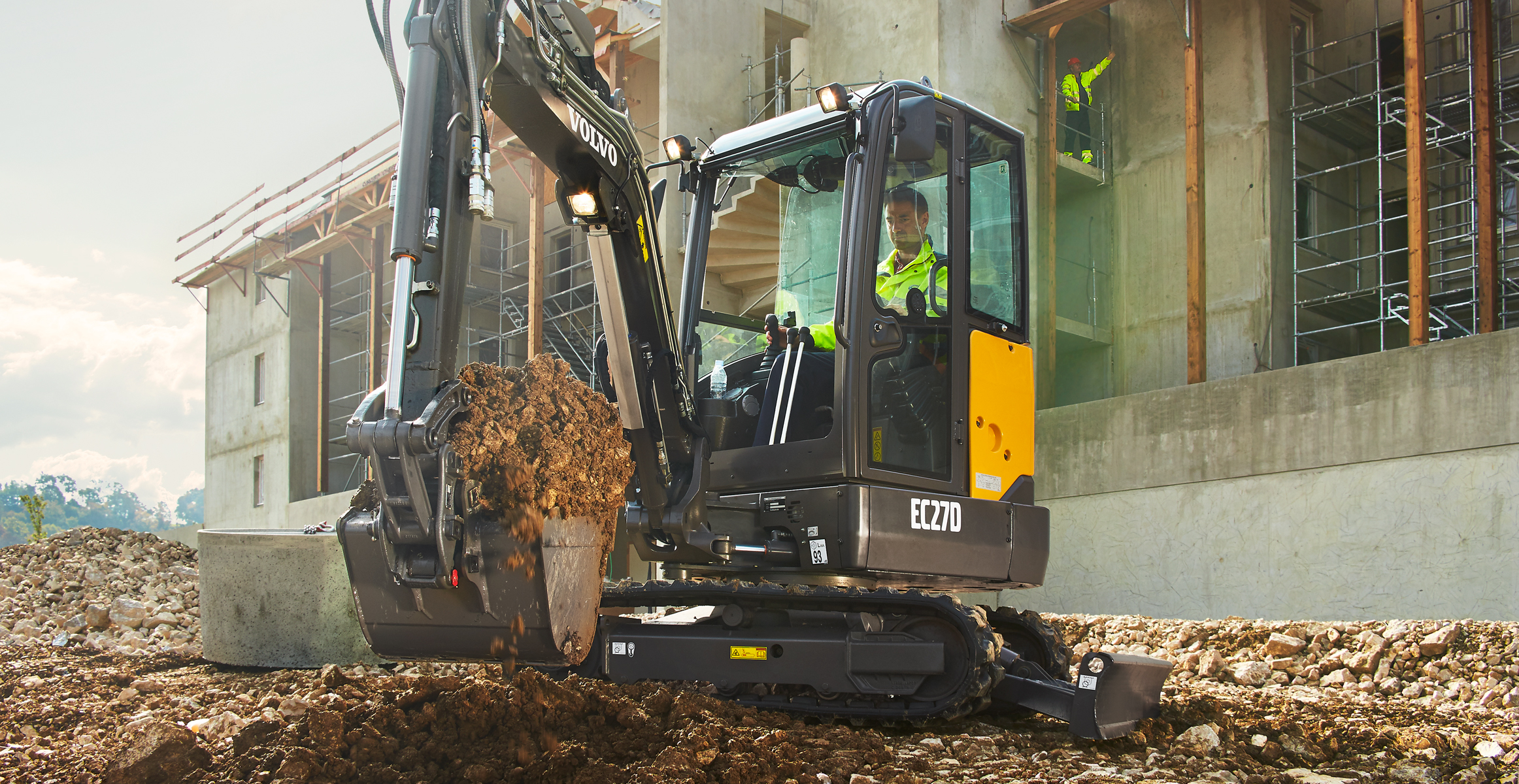 ec27d compact excavators media gallery volvo construction