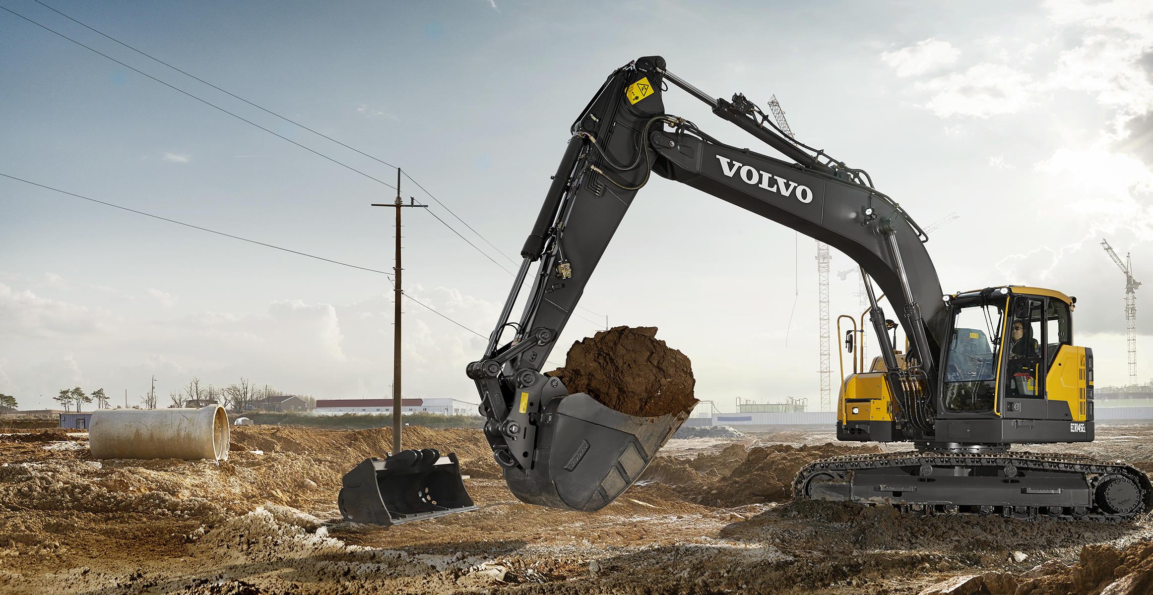 ecr145e crawler excavators media gallery volvo construction