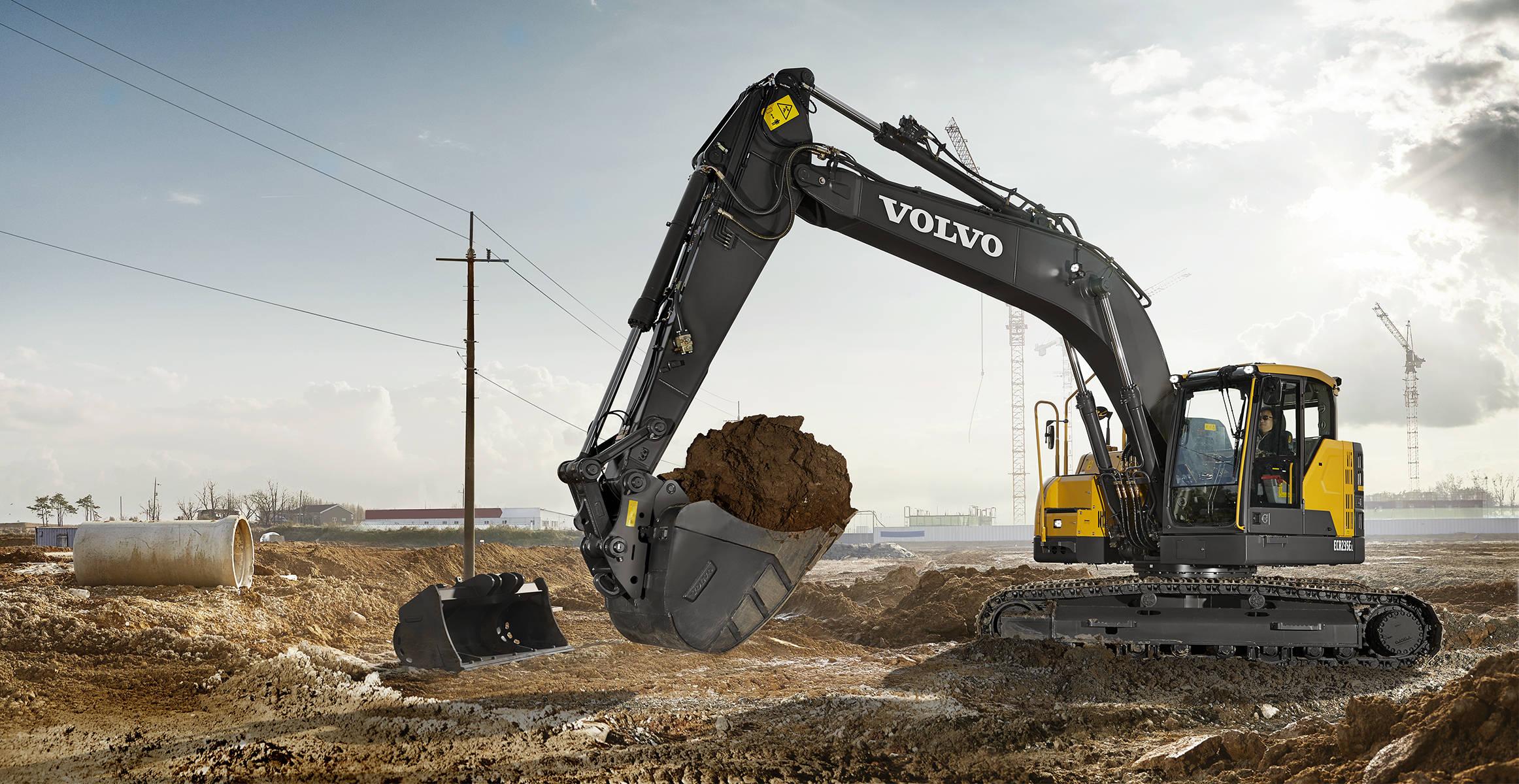 ECR235E | Crawler Excavators | Media gallery | Volvo Construction Equipment