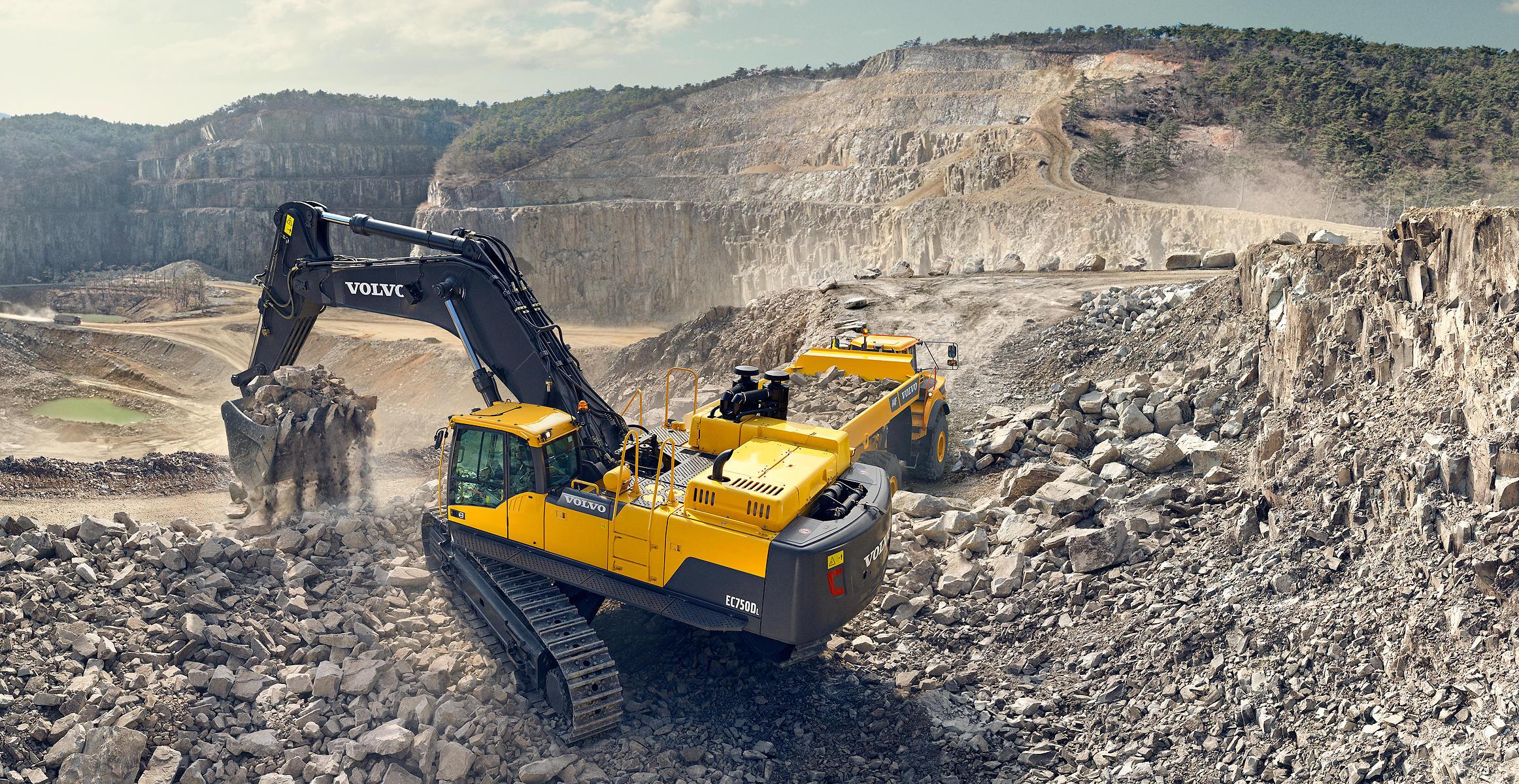 Ec750d Crawler Excavators Features Volvo