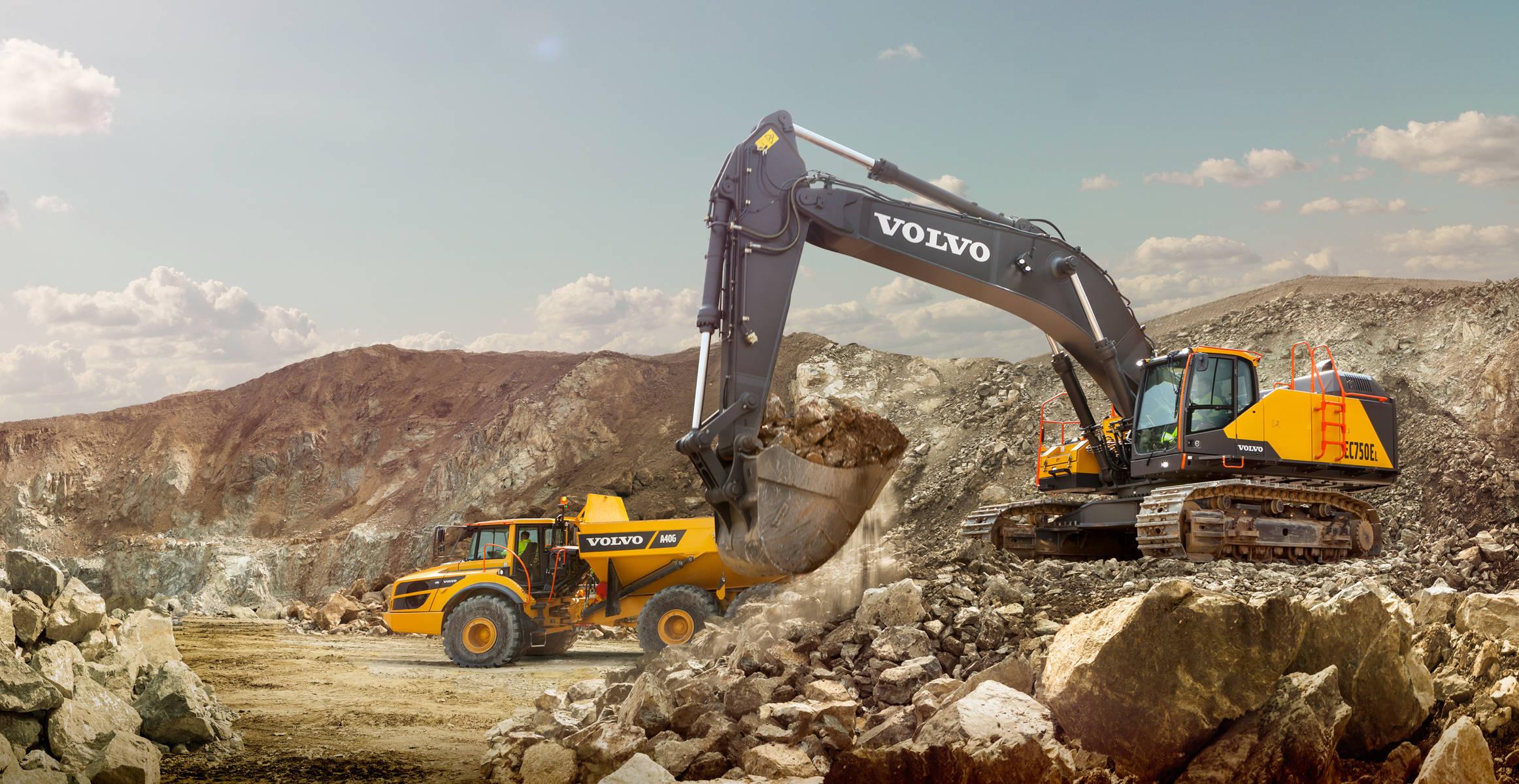 pale grandi le ammiraglie Volvo-show-crawler-excavator-ec750e-t4f-2324x1200