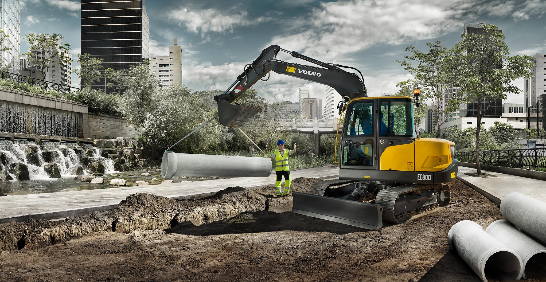 EC80D Pro | Compact Excavators | Media gallery | Volvo Construction Equipment