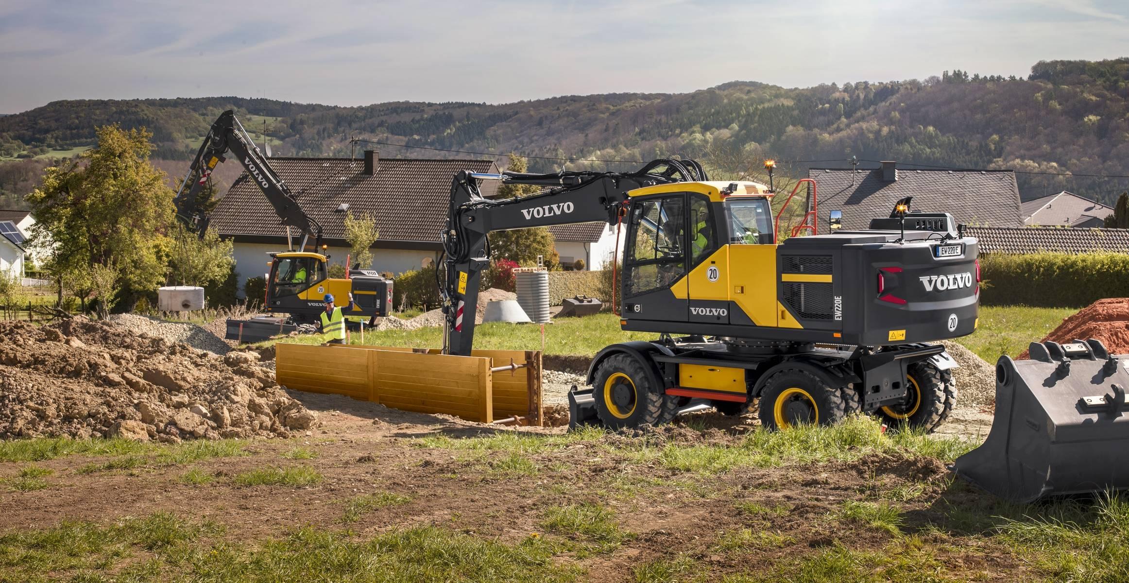 Ew180e Hjulg 229 Ende Gravemaskiner Mediegalleri Volvo Construction Equipment