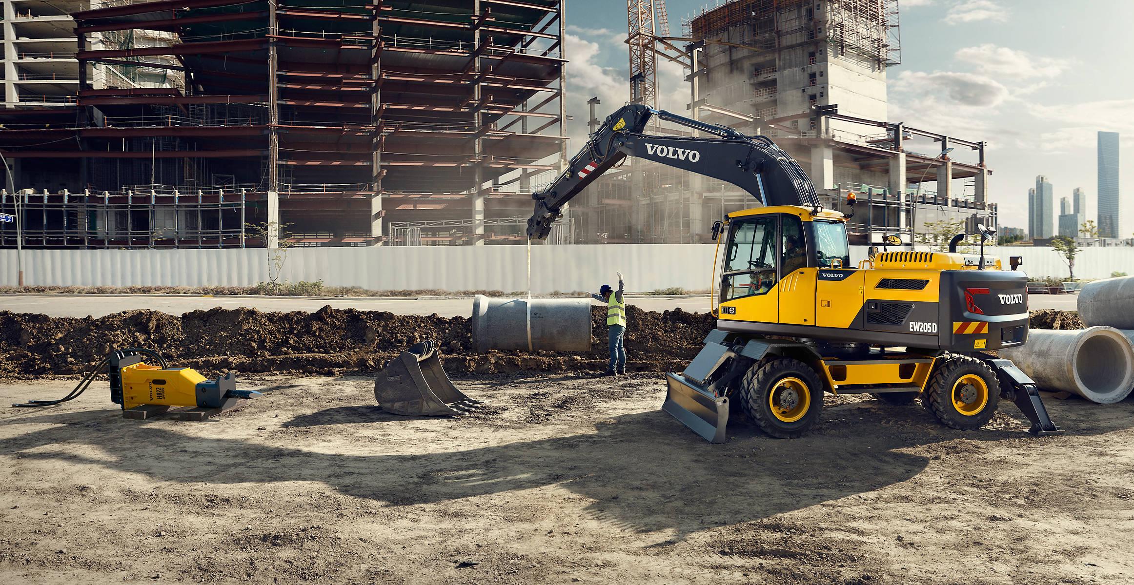 Ew205d Wheeled Excavators Overview Volvo Construction Equipment