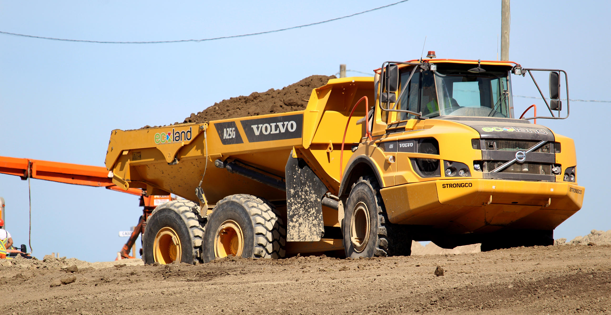 Volvo A25G used by Ecoland in Ontario, CA