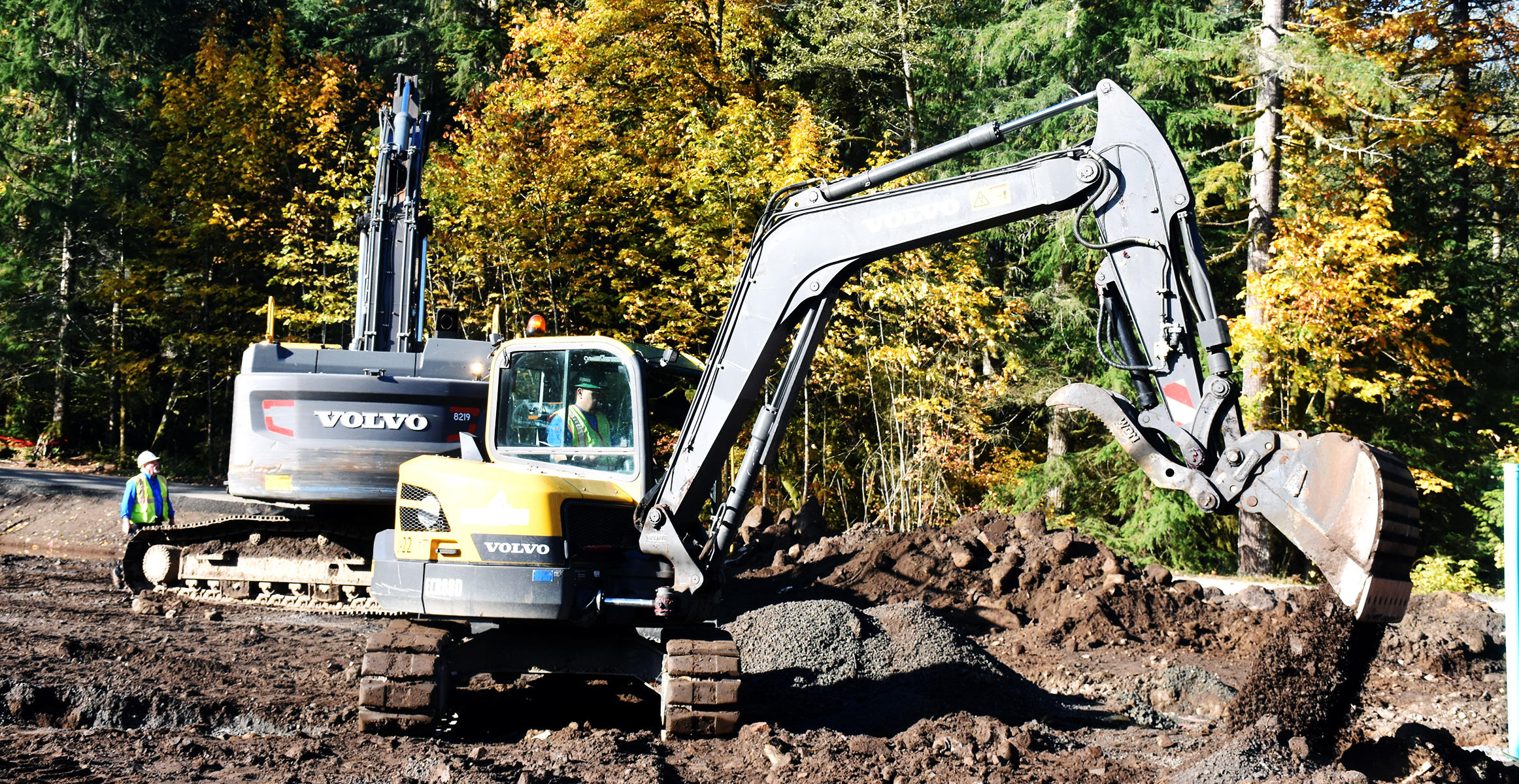 Volvo mini excavator at Janz Enterprises in Oregon