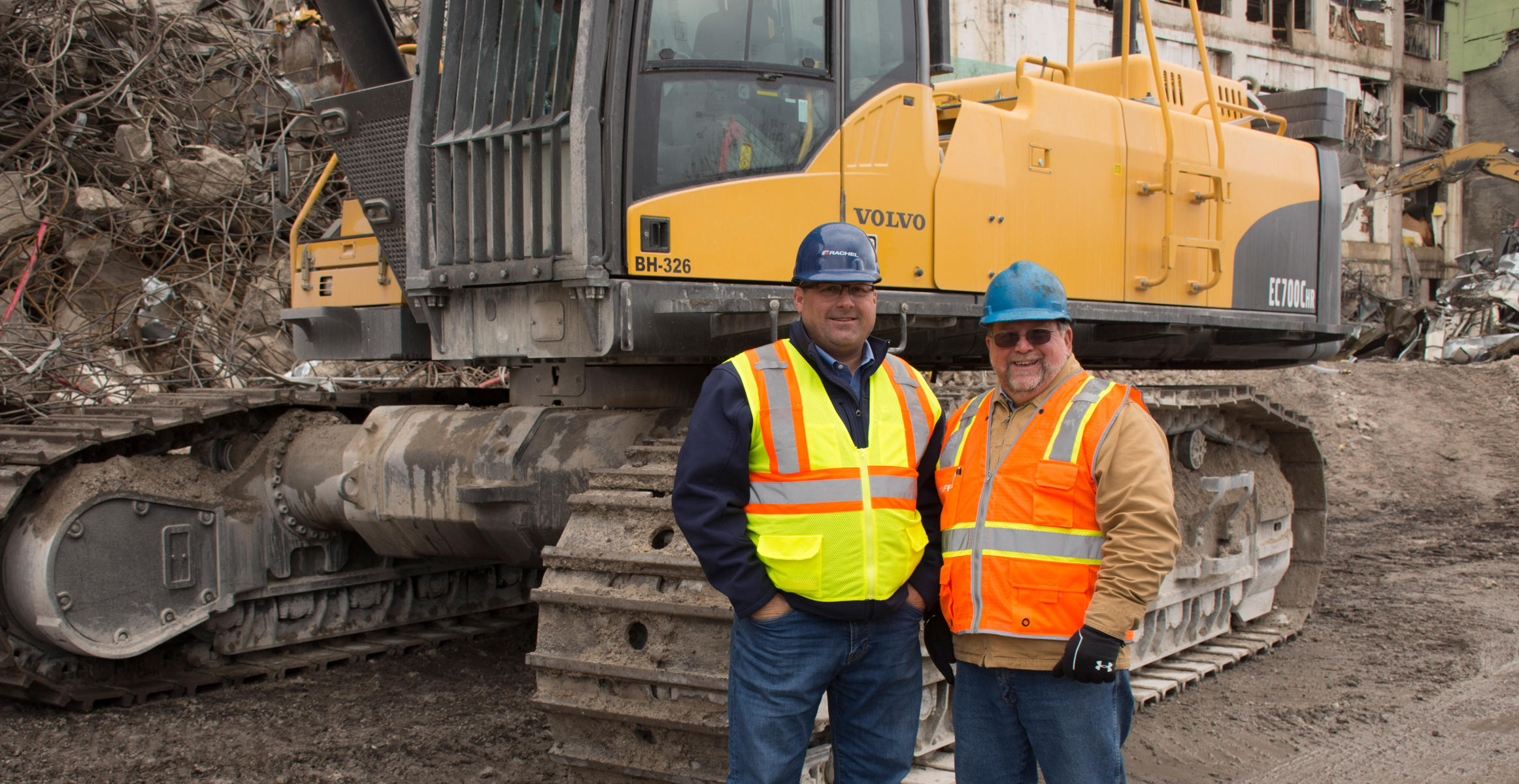 Rachel Contracting uses a Volvo EC700C for demolition in St. Paul, Minnesota