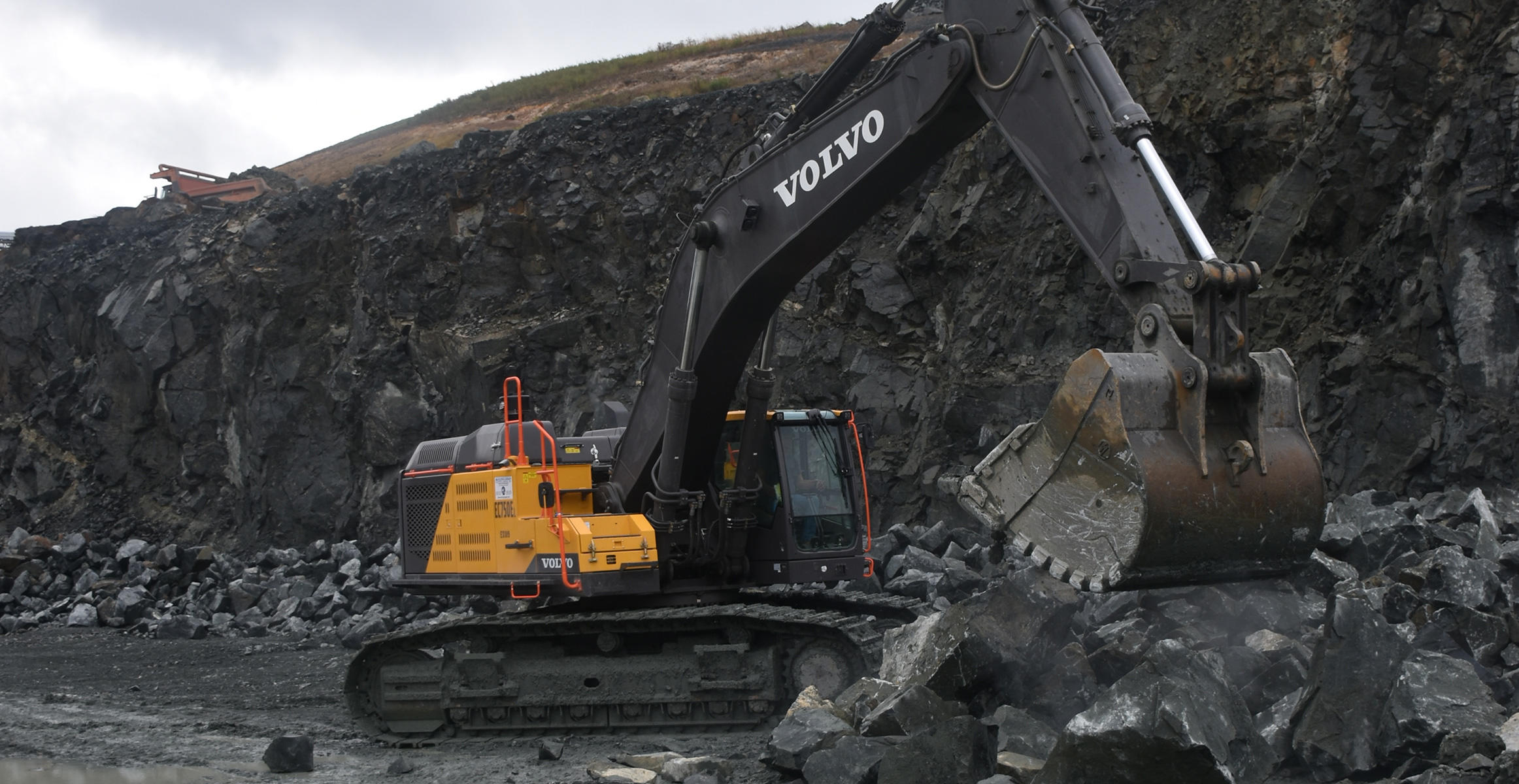 Volvo Excavator at Savage Stone in Jessup, Maryland