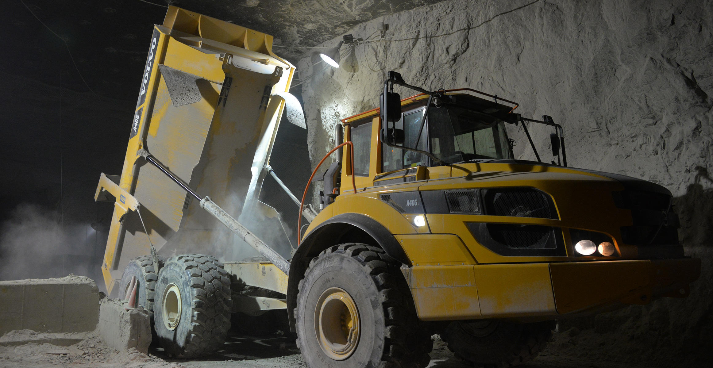 Volvo Articulated Truck (ADT) in underground Sterling mine