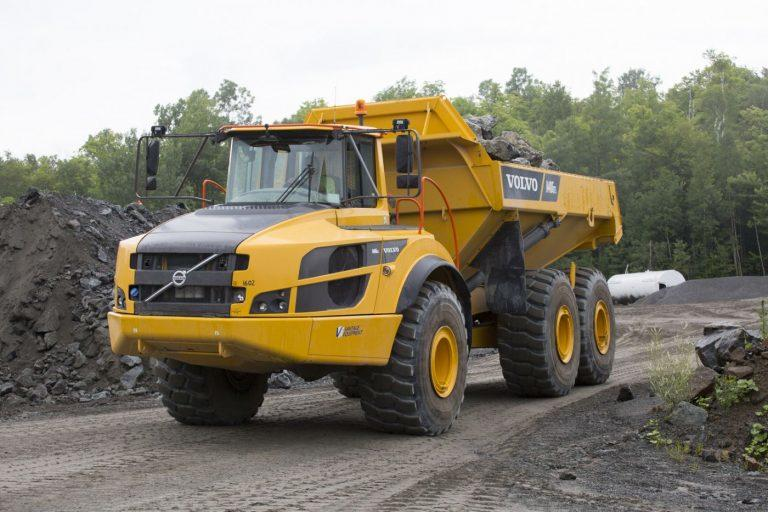 Volvo A40G hauling rock for Barton Mining
