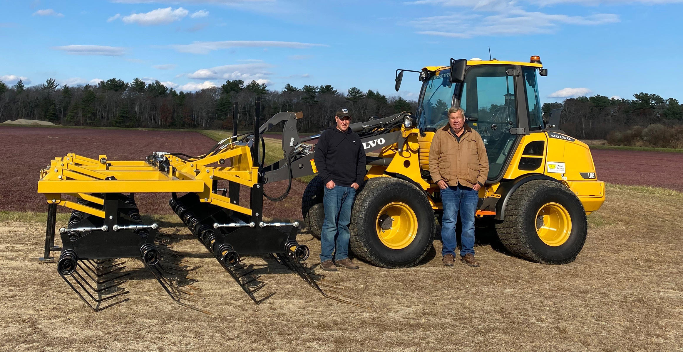 Derek Harju with Ken Harju & Sons Cranberries Inc. and a Volvo compact wheel loader
