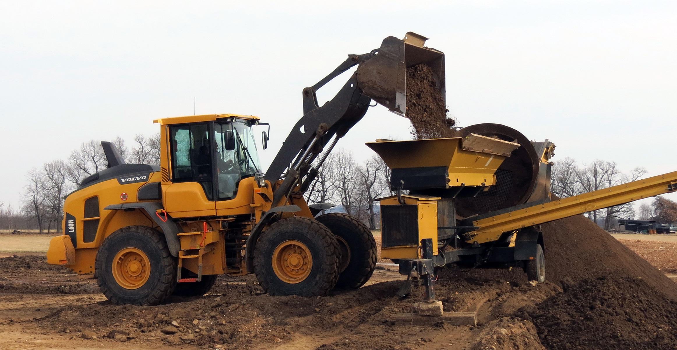 Volvo L60 wheel loader at Chev's Trucking in Lowell, Arkansas