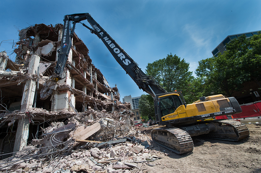 Volvo raises the profile of high reach demolition