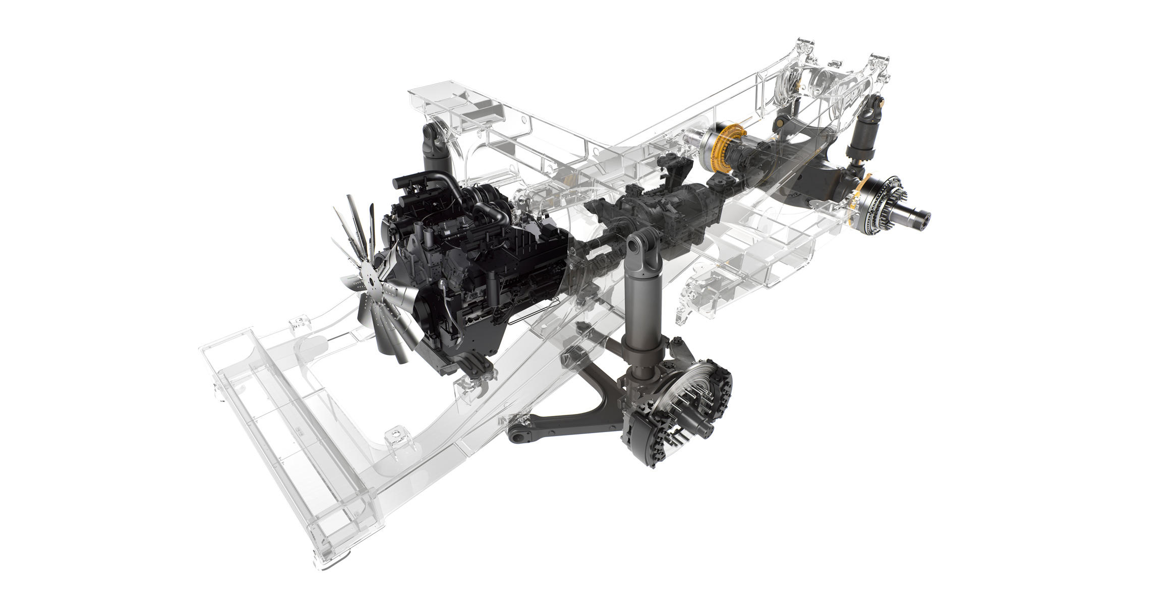 Volvo R100E Rigid Hauler's inside engine