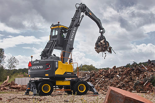 Volvo Construction Equipment launches the all-new EW200E Material Handler, aimed at the light waste handling segment.