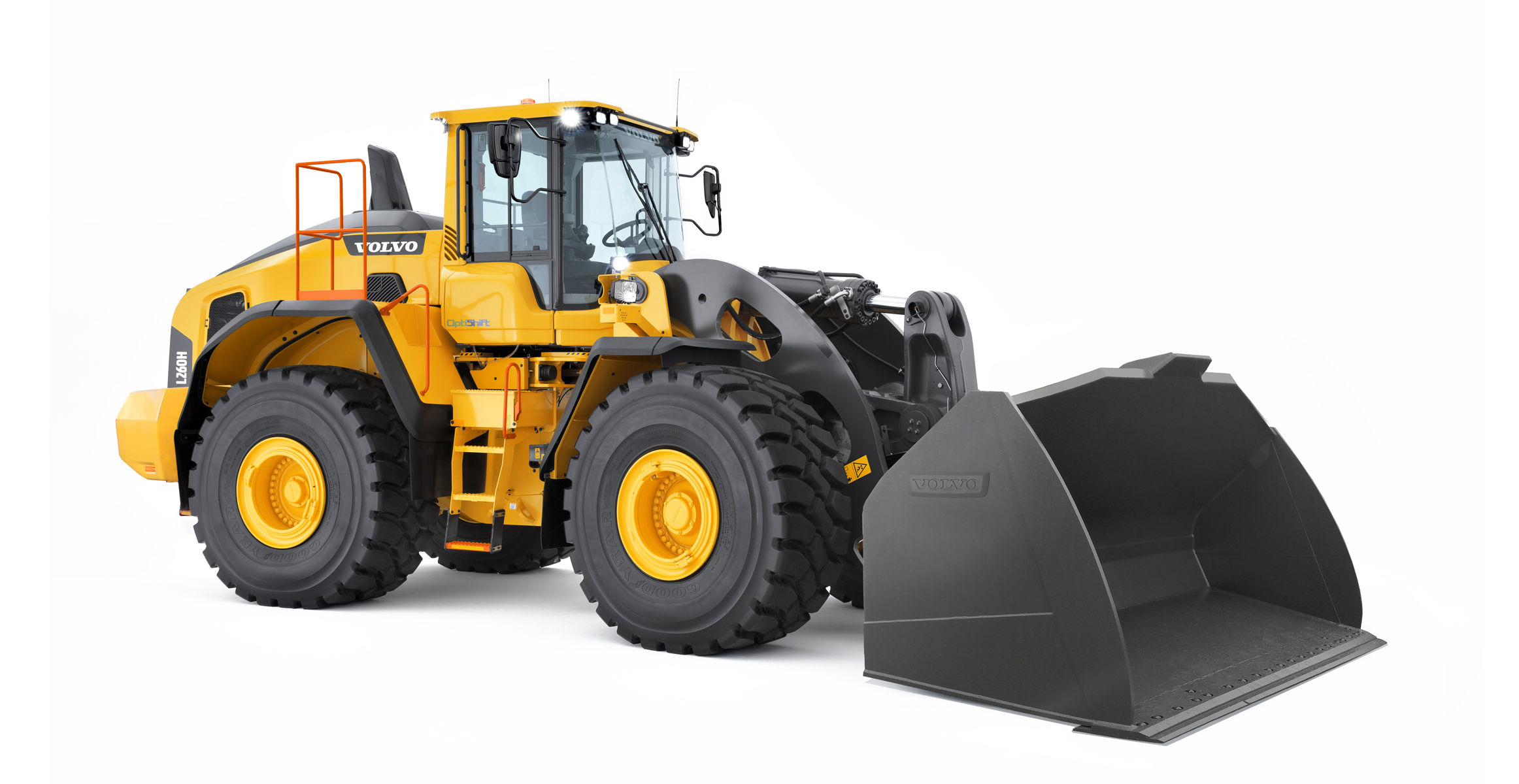 Volvo L260H Front End Loader: Two full buckets for one full truck