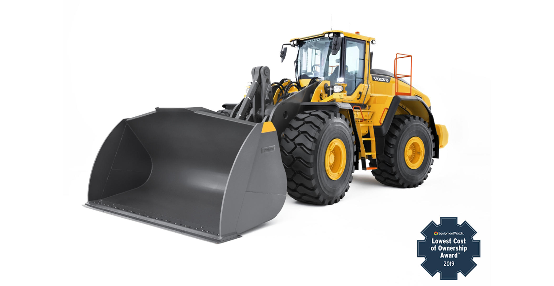 Volvo L180H Wheel Loader wins the 2019 EquipmentWatch Lowest Cost of Ownership award