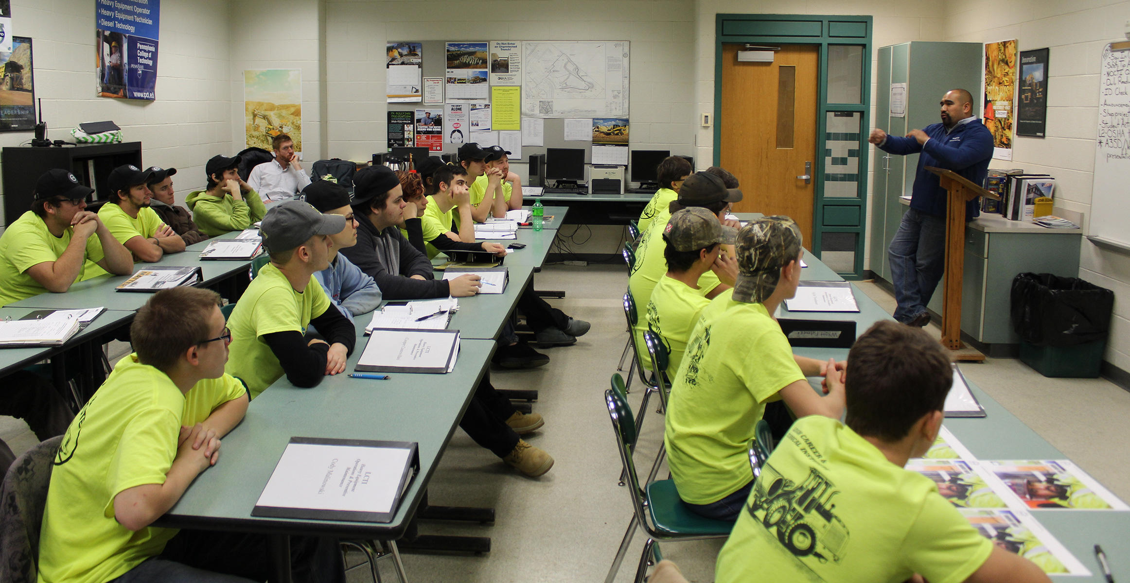 Students at Lehigh Career Technical Institute (LCTI) in Schnecksville, Pennsylvania
