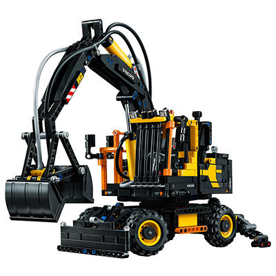 Volvo EW160E wheeled excavator is the next LEGO Technic