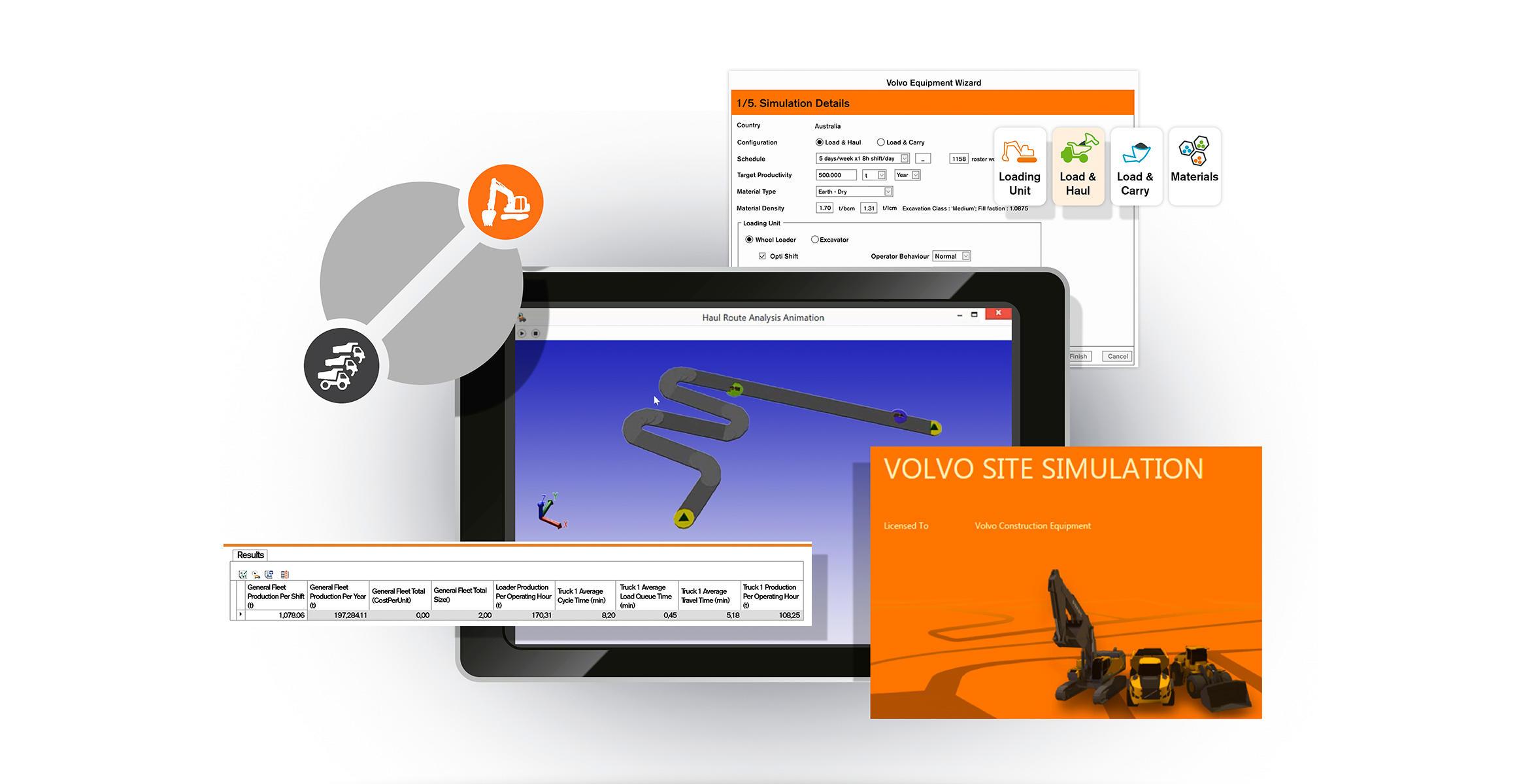 Volvo Site Simulation Software