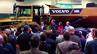 Volvo CE's Golden Hauler at CONEXPO