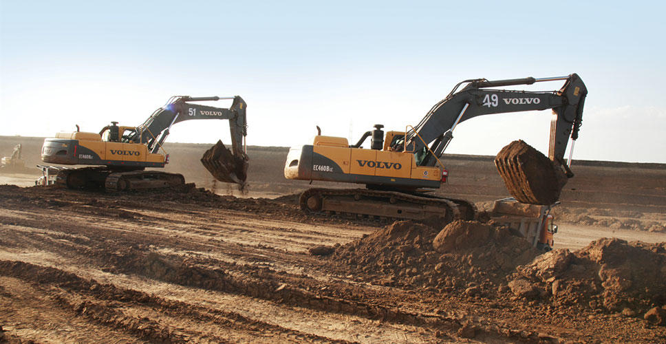Volvo machines put to rigorous duty cycles at P C Patel Infra Pvt. Ltd., GMDC Valia