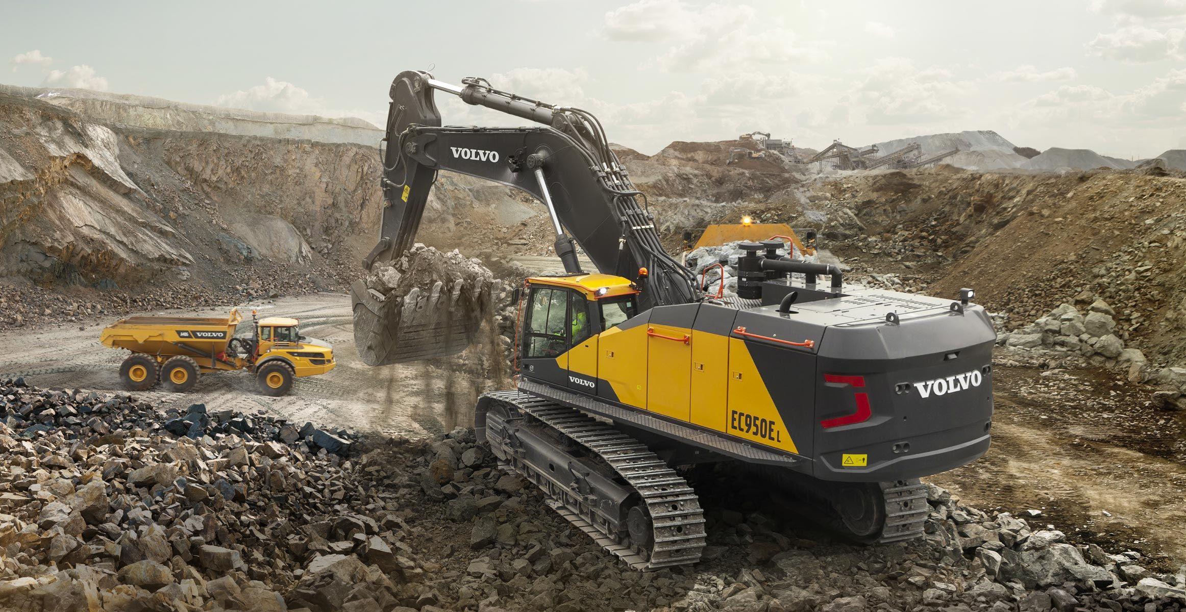 Bigger is better with Volvo EC950E crawler excavator