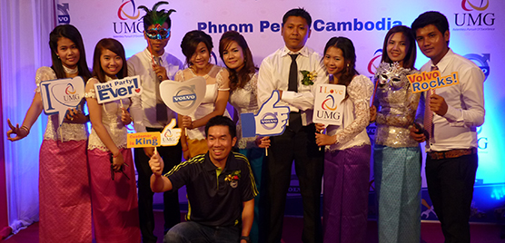 Aftermarket staff from UMG in Cambodia, together with Region APAC trainer for CSA, Pang Hsiang Kim