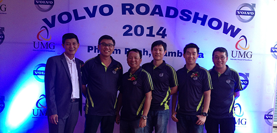 Region APAC had a strong team in place during the aftermarket road show in Cambodia. From left Wilson Chee, John Chan, William Ling, Goh Hup Soon, Pang Hsiang Kim and William Tan