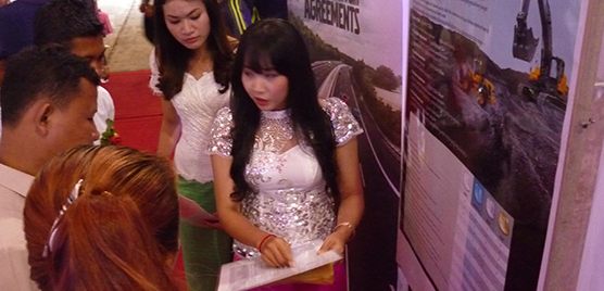 UMG has a large number of females in their staff in Cambodia and they took every opportunity to explain to the customers why Volvo´s aftermarket offering is second to none