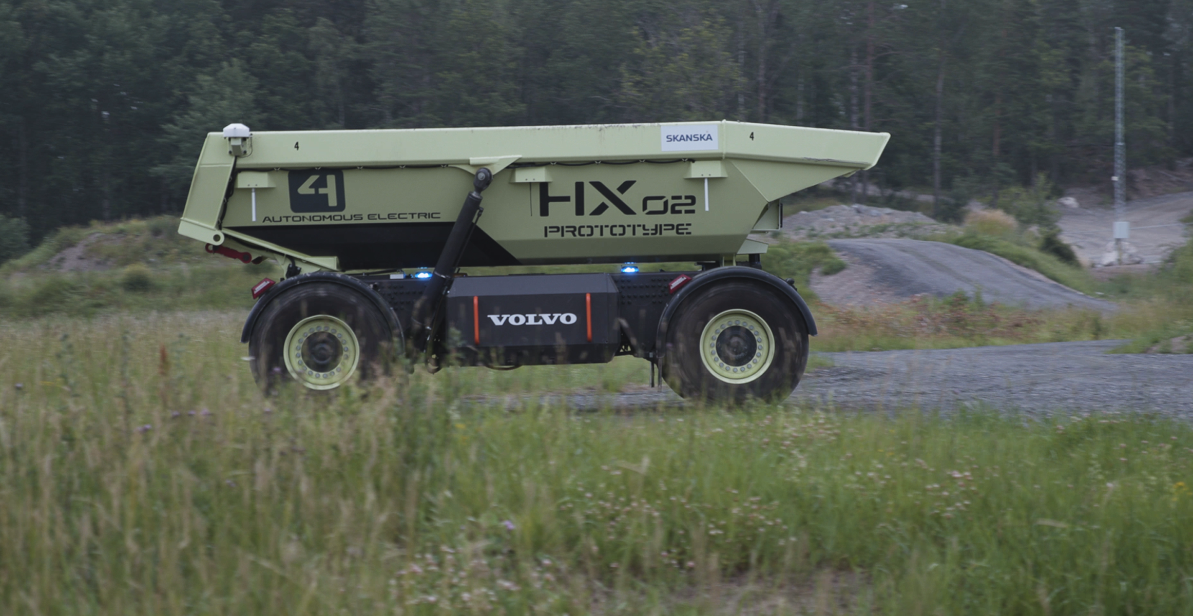 Volvo HX2 autonomous electric load carrier at new Technology Center test track