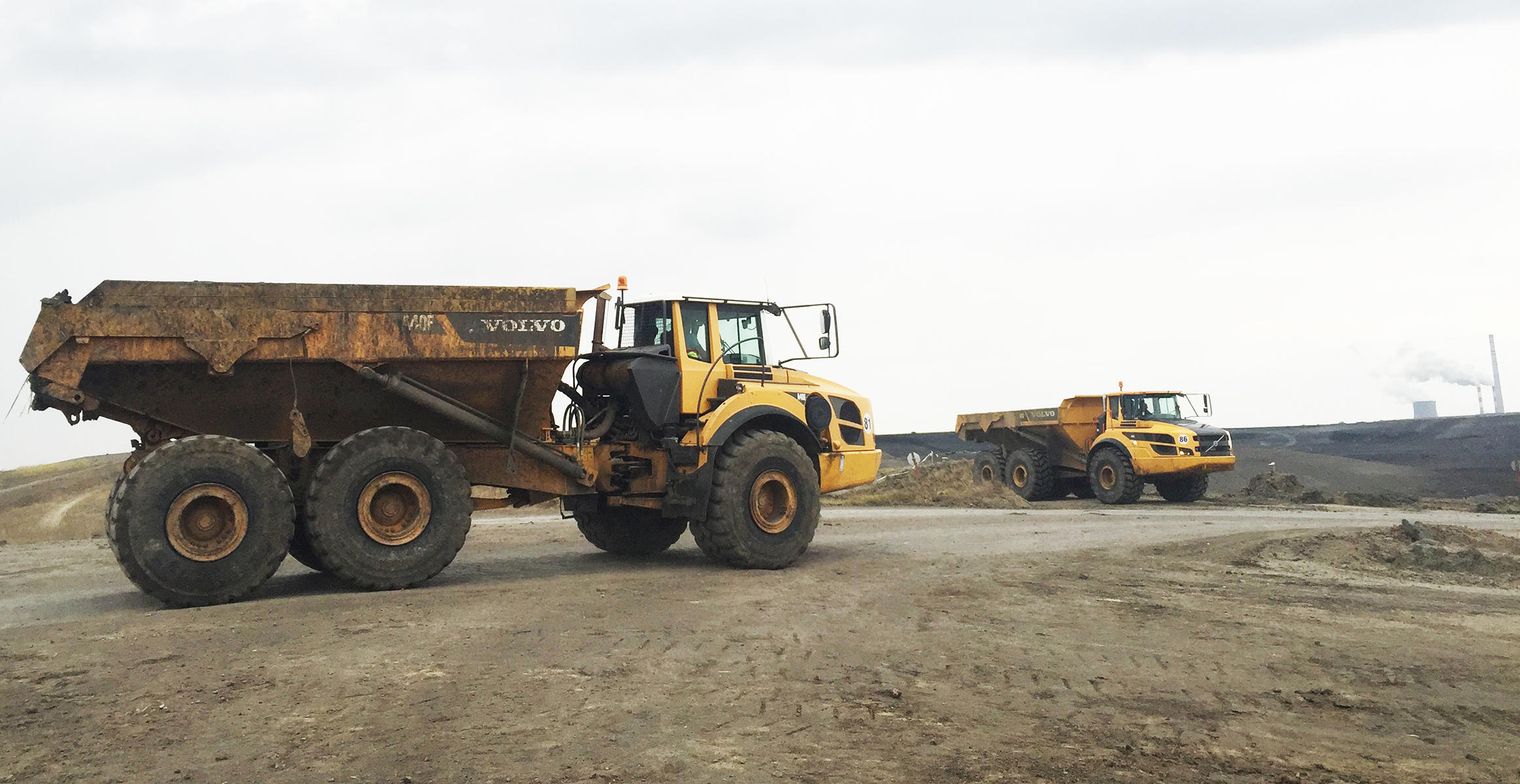 Volvo articulated haulers lighten the burden at Bulgarian mine