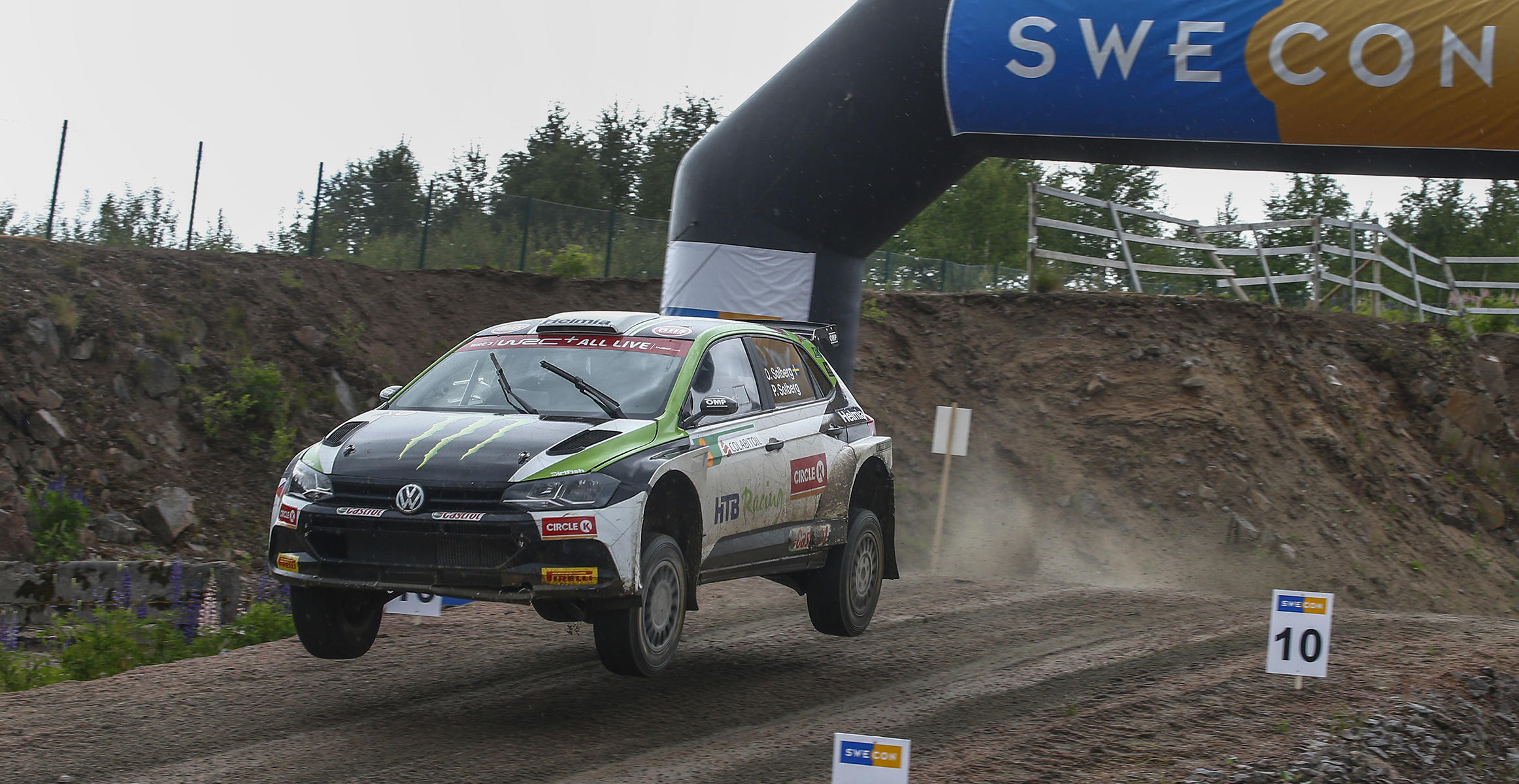 Oliver Solberg i Swecon Road to Rock Arena under Rallý Sweden Lockdown
